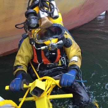 tim descending commercial diving